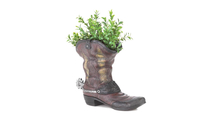 Spurred Cowboy Boot Planter 3