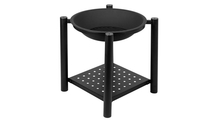 Four Feet Iron Brazier Wood Burning Fire Pit Side View Of Bowl