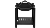 Four Feet Iron Brazier Wood Burning Fire Pit With Spark Screen No Flame