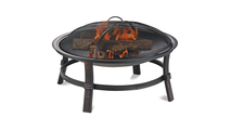 Brushed Copper Wood Burning Outdoor Fire Pit
