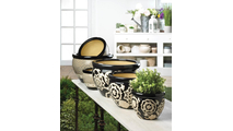 Floral Nights Ceramic Planter Set 3