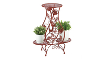 Red Rooster Hourglass Triple Plant Stand 2