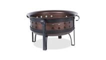 Steel/Brushed Copper Wood Burning Outdoor Fire Pit
