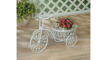 White Bicycle Planter 2