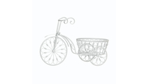 White Bicycle Planter 1