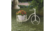 White Tricycle Planter 2