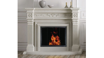 Newport 4-Sided Installed On Fireplace With No Hearth