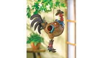 Cowboy Rooster Birdhouse 2