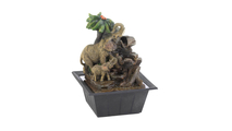 Elephant Family Tabletop Fountain