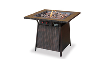 LP Gas Outdoor Fire Pit with Tile Mantel