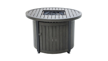 LP Gas Outdoor Fire Pit with Aluminum Mantel