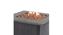 LP Gas Outdoor Fire Pit with Resin Mantel