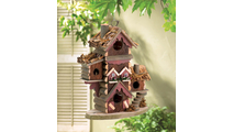Rustic Gingerbread Style Bird House 2
