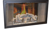 Nightwell Fireplace Glass Door For Firebox Opening 33-1/2 Inch Wide x 24 Inch Tall