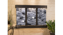 Olympus Falls - Black Spider Marble - Blackened Copper - Rounded