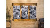 Olympus Falls - Black Spider Marble - Rustic Copper - Rounded
