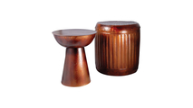 Truffle Set of 2 Table and Barrel Stool