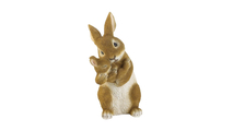 Bonding Time Mom & Baby Rabbit Figurine 1