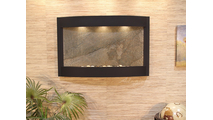 Calming Waters Interior Horizontal Wall Mounted Water Fountain with Blackened Copper Trim with Antique Bronze Trim