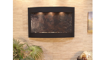 Calming Waters Interior Horizontal Wall Mounted Water Fountain with Blackened Copper Trim