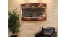 Calming Waters Interior Horizontal Wall Mounted Water Fountain with Copper Vein Trim