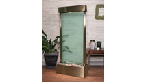 Harmony River Center Fountain w/Harvest Gold Trim & Green Colored Glass
