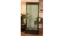 Harmony River Center Fountain w/Woodland Brown Trim & Green Colored Glass