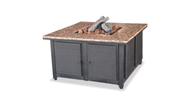 LP Gas Outdoor Fire Pit with Granite Mantel