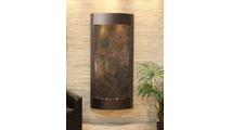 Tranquil River Water Fountain Floor Water Feature in Copper Multi Color FeatherStone