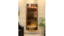 Tranquil River Water Fountain Floor Water Feature in Rustic Copper