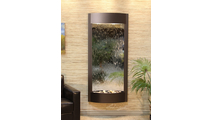 Tranquil River Water Fountain Floor Water Feature in Silver Mirror