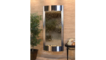 Tranquil River Water Fountain Floor Water Feature in Stainless Steel