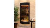 Tranquil River Water Fountain Floor Water Feature in Textured Black