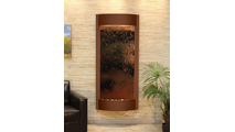 Tranquil River Water Fountain Floor Water Feature in Woodland Brown