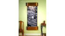 Inspiration Falls - Black Spider Marble - Rustic Copper - Rounded