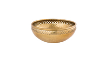 Large Hammered Bowl in Aluminum Brass