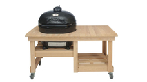 Primo All-In-One Oval Large 300 Ceramic Kamado Grill With Cradle & Side Shelves - 7500