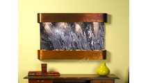 Sunrise Springs - Black Spider Marble - Rustic Copper - Rounded