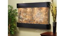 Sunrise Springs - Rainforest Brown Marble - Blackened Copper - Rounded