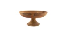 Wooden Bowl on Pedestal Unfinished