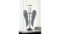 Angel Wings Farmhouse Candle Holder