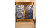 Aspen Falls - Black Spider Marble - Rustic Copper - Rounded