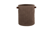 Knitted Cotton Basket in Brown