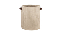 Knitted Cotton Basket in Taupe