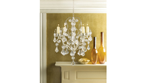 Ivory Baroque Candle Chandelier 2