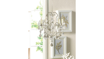Ivory Baroque Candle Chandelier 3