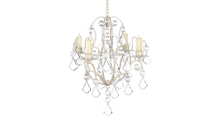 Ivory Baroque Candle Chandelier 1