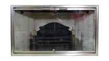 Brushed Steel Starlight Zero Clearance Fireplace Door