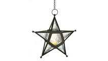 Clear Glass Star Lantern 1