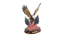 Patriotic Eagle Statue Sculpture 3